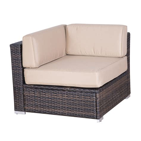 Wicker Sofa by Outsunny 9pc Outdoor Patio Rattan Wicker Sofa Sectional