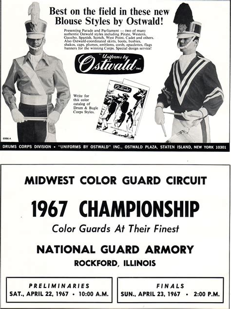 midwest color guard circuit historical drum corps publications 03 28 11