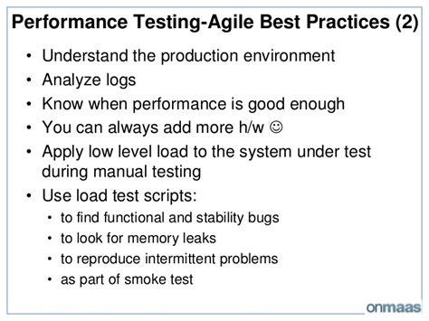 agile testing performance vs load vs stress testing incorporating performance testing in agile development process