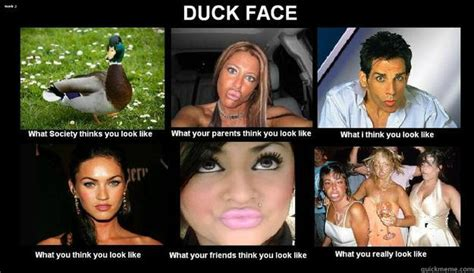 Duck Face Meme - duck face quickmeme