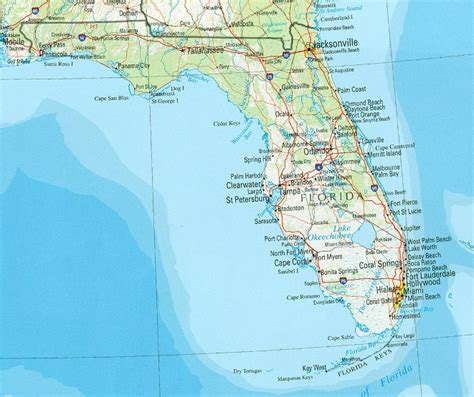 florida physical map florida reference map