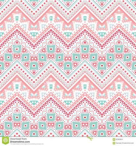 tribal pattern pink and blue tribal ethnic zig zag pattern illustration stock