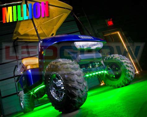 golf cart underbody lights 4pc ledglow million color led golf cart underbody light