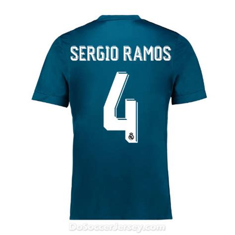 real madrid 2017 18 third sergio ramos 4 shirt soccer