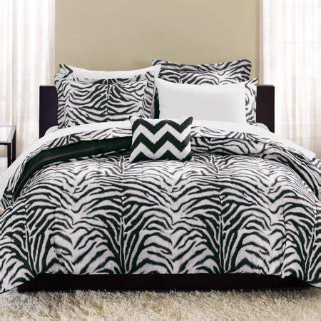 mainstays zebra bed   bag complete bedding set walmartcom