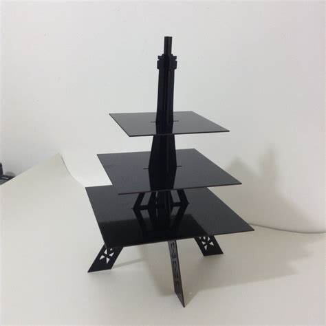 Stand Eiffel Tower Eiffel Tower Cupcake Stand Square