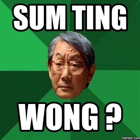 Sum Ting Wong Meme - anderson silva is 4 3 against japanese fighters in his