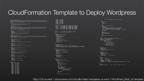 Dev Test On Aws Journey Through The Cloud Cloudformation Template Generator
