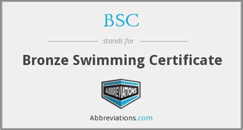 bsc bronze swimming certificate