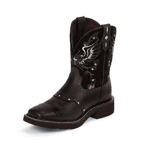 black justin boots justin black deercow boots d d outfitters