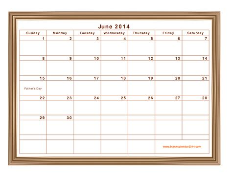 June 2014 Calendar Template by 7 Best Images Of June 2014 Calendar Printable June 2014