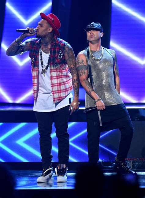 5 News Scoops The Grammys Chris Brown Trouble Dakota Fannings Growing Up Danes Engaged And The Bafta Awards by Wisin In 15th Annual Grammy Awards Show Zimbio