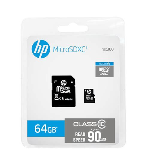Micro Sd Hp 64gb Hp 64gb Micro Sd Card Upto 90mb S Class 10 Buy 2399 Snapdeal