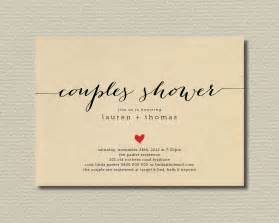 printable couples shower invitation simple sweet