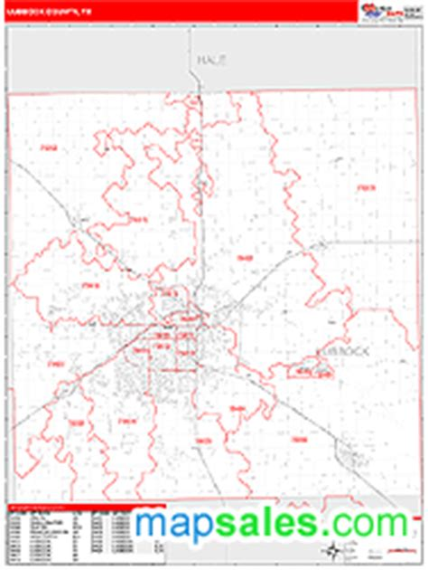 lubbock texas zip code map lubbock county tx zip code wall map line style by marketmaps