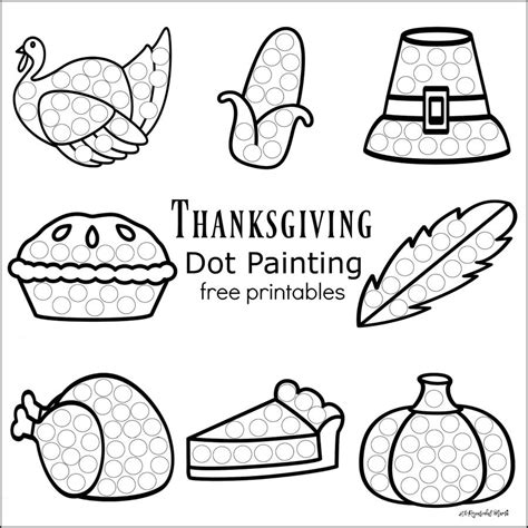 printable art worksheets for preschoolers thanksgiving dot painting free printables the
