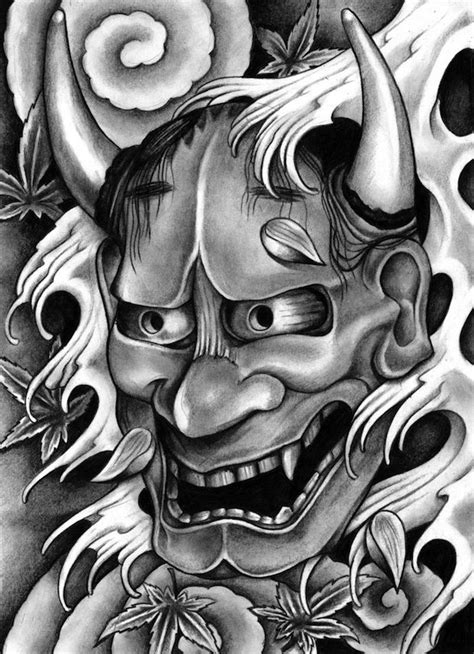 japanese hannya mask tattoo designs 1000 ideas about oni on samurai