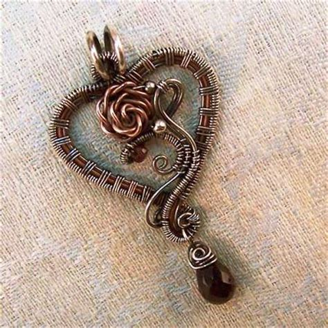 sterling silver to make jewelry sterling silver and copper wire work lola pendant