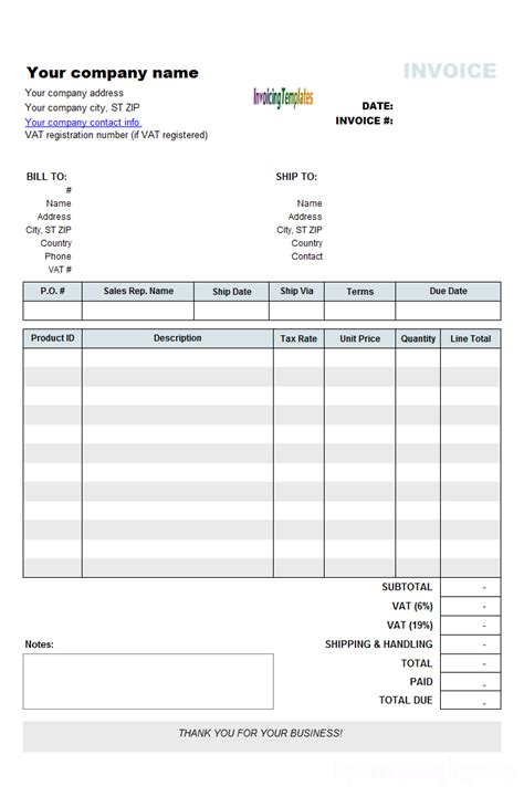 free invoice template uk vat invoice template uk invoice exle