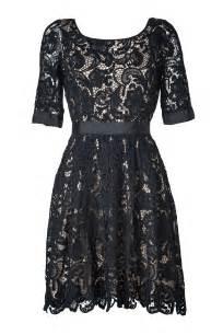 lace dress and black bridesmaids dresses chic vintage brides