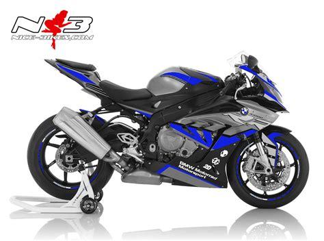 bmw s1000rr dekor dekorsatz s1000rr edition blau auf schwarz grauer maschine