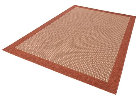 teppich terracotta design teppich flachgewebe simple mit bord 252 re terracotta
