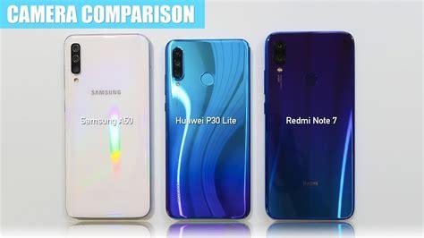 Samsung Galaxy A50 Vs Xiaomi 8 Lite by Samsung A50 Vs Huawei P30 Lite Vs Redmi Note 7 Test Comparison
