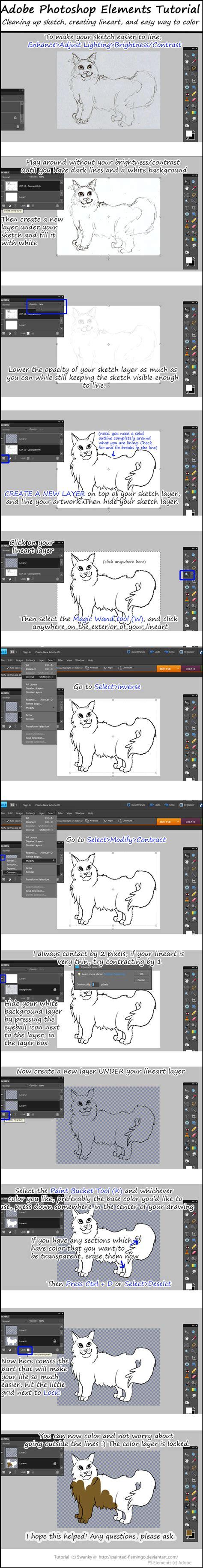 tutorial adobe photoshop elements 5 0 adobe photoshop elements tutorial lineart color by