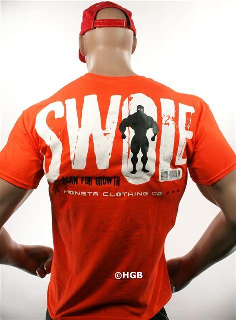 monsta clothing mens graphic bodybuilding wear swole t