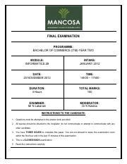 Mancosa Mba Past Papers by Management College Of Southern Africa Mancosa Pty Ltd