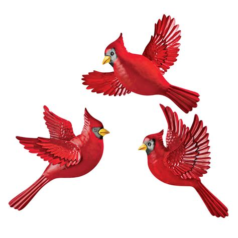 christmas cardinal wall decor set of 3 by collections