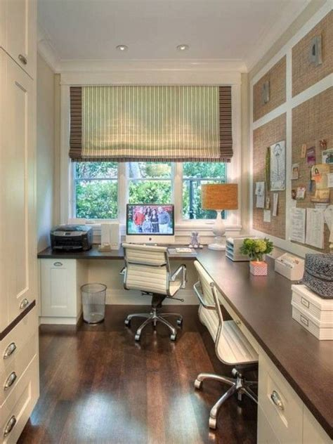 His And Hers Home Office Design Ideas home office layout idea efficient use of narrow space