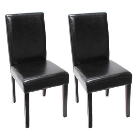stuhl leder schwarz 2x esszimmerstuhl stuhl lehnstuhl littau leder schwarz