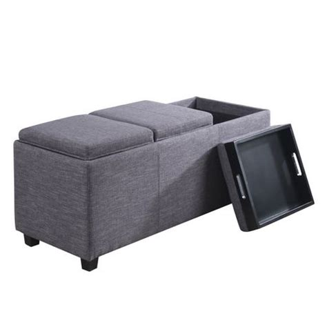 extra large tray for ottoman wyndenhall franklin extra large rectangular storage
