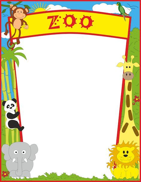 Banner Safari Hewan a page border featuring zoo animals free downloads at http pageborders org zoo