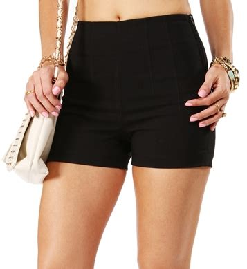 Zip Side Shorts sale black high waisted side zip shorts