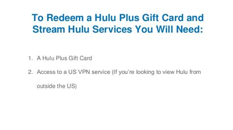 Hulu 1 Year Gift Card - how to redeem a hulu plus gift card