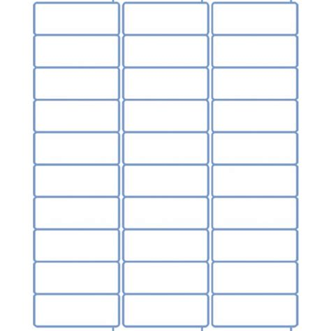 2 5 8 quot x 1 quot standard address sheet labels for inkjet laser