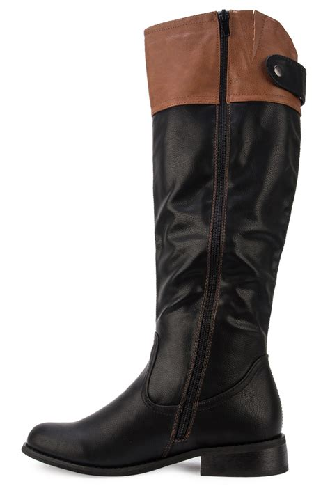 black or brown boots new womens black brown casual knee high