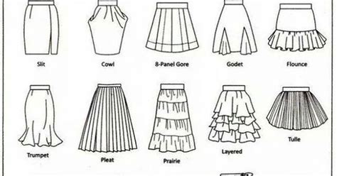 sewing pattern names different skirt names patterns and tutorials pinterest