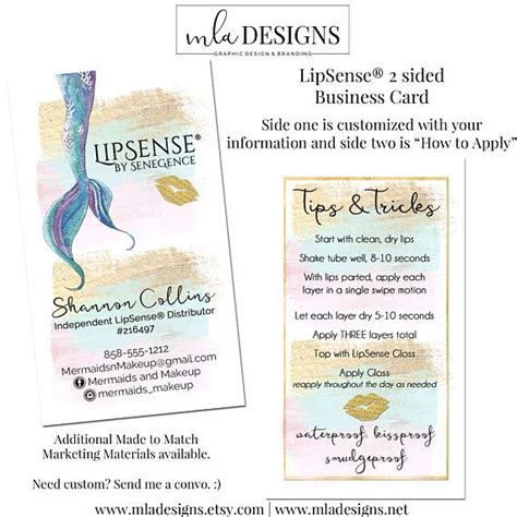 senegence business card template 20 best lipsense by senegence images on