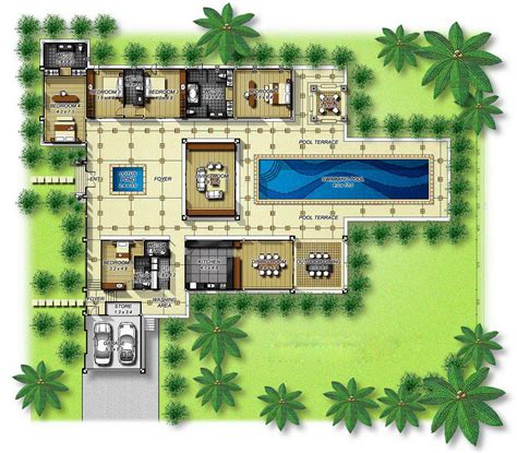 garden floor plan house plans with courtyards in the center central