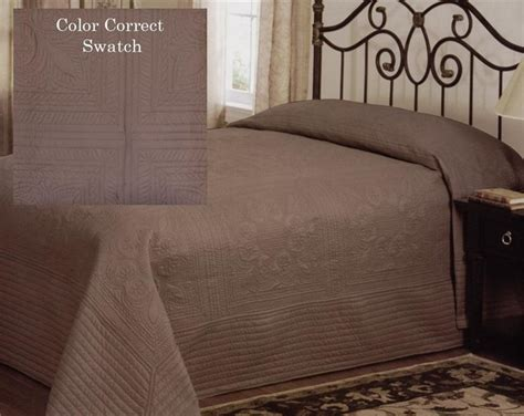 Country French Mocha Brown Oversized King Bedspread