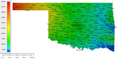 topographical map of oklahoma topographic map oklahoma bnhspine