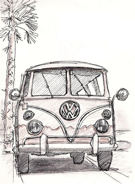 volkswagen bus drawing vw bus pen sketch by bobo1972 on deviantart