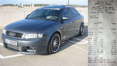 2003 Audi A4 Quattro Specs by 2003 Audi A4 1 8t Quattro 1 4 Mile Drag Racing Timeslip