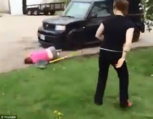 two women fighting in the backyard girl on girl fight video shows 16 year old hit on head