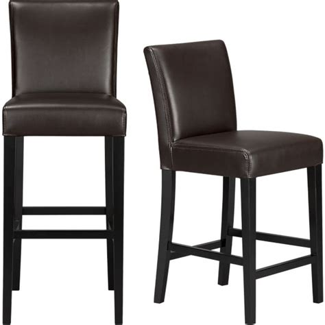 Chocolate Bar Stools lowe chocolate leather bar stools crate and barrel