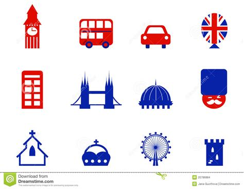 design elements icon london english icons and design elements stock images