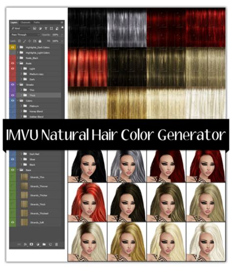 hair color changer generator color generator for hair imvu generators mirror image stock